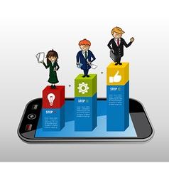 Smart phone app business infographics vector image