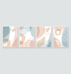 Soft earth tones color art abstract background vector