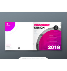 square brochure design magenta corporate business vector image