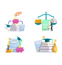 Student loan concept isolated vector