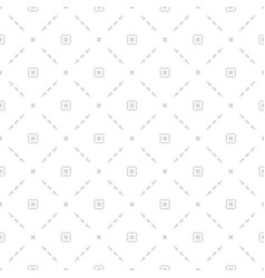 subtle seamless pattern with delicate square grid vector image