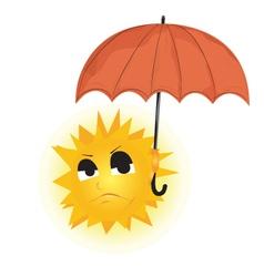 Sun Holding Umbrella vector