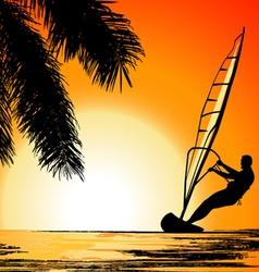 Surfer Paradise place vector