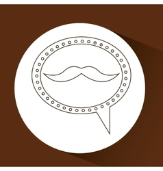 Symbol hipster mustache fashion icon vector