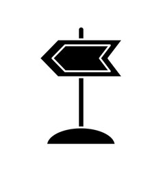 Wooden road sign icon vector