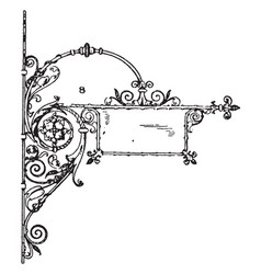 Wrought-iron bracket custom brackets vintage vector