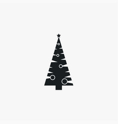 xmas tree icon simple winter sign vector image