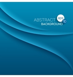 Abstract modern background with blue waves vector image