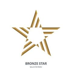 Bronze 3d star Business international award vector image