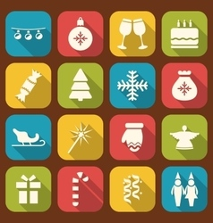 Christmas Party Simple Icons vector image vector image