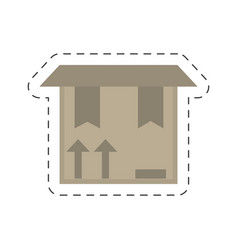 delivery box package carton vector image