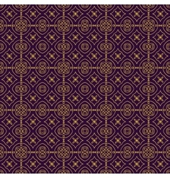 Elegant geometric background made of floral vector image vector image