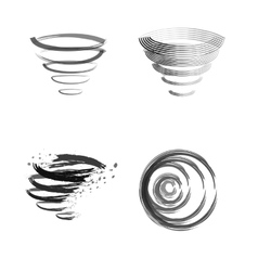 Logo cleaning whirlwind vector image