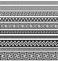 Old greek border designs vector image vector image
