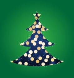 Shining Lights Christmas Tree vector image