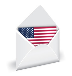 usa flag in opened envelope vector holiday indepen vector image vector image