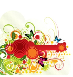 colour composition vector image vector image