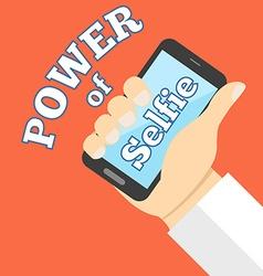 Power of selfie concept Flat design vector image