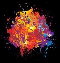 rainbow spray vector image vector image
