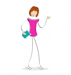 student with book vector image vector image