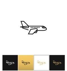 Air plane pictogram jet or aeroplane icon vector image