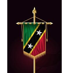 Flag of saint kitts and nevis festive vertical ban vector