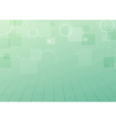 Modern green technology connection background vector image