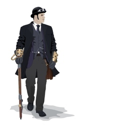 steampunk man vector image