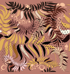 abstract leafy seamless pattern floral vector image