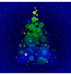 Abstract shining christmas tree vector image