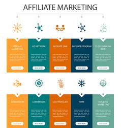 Affiliate marketing infographic 10 option ui vector
