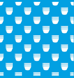 baking molds pattern seamless blue vector image