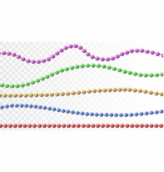 Bead decoration with beads vector