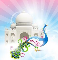 beautiful taj mahal vector image