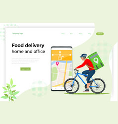 Bicycle courier express delivery service courier vector
