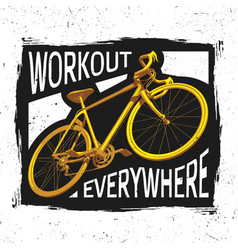 Bicycle workout poster vector