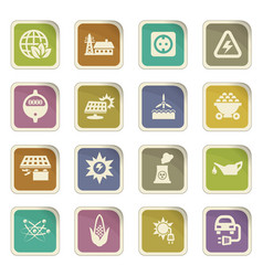 Bio fuel industry icons set vector