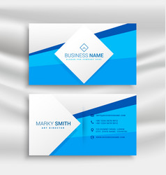 Blue corporate business card template vector