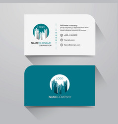 Business name card with modern flat design vector