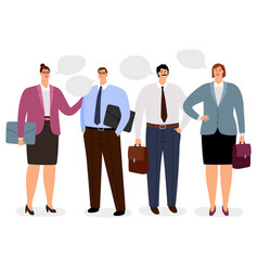 businesspeople with conversation bubbles vector image