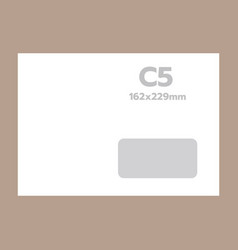 c5 envelope mockup realistic style vector image