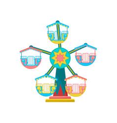 Carousel amusement park element vector