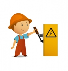 cartoon electrician vector image