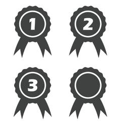 Certificate seals icon set vector