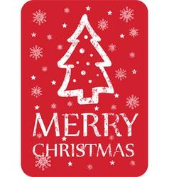 Christmas greeting with christmas tree vector