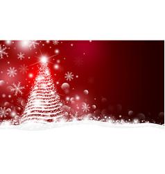 christmas tree and light with bokeh design vector image