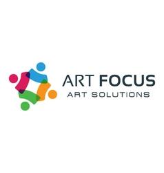 Colorful social logo vector