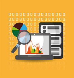 Data analysis website finance statistics server vector