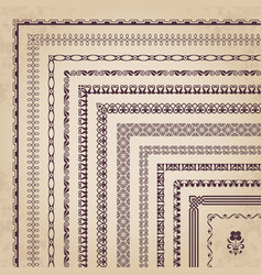 Decorative corner borders and frames vector