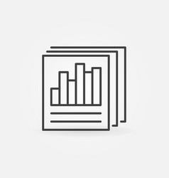 document papers outline icon business vector image